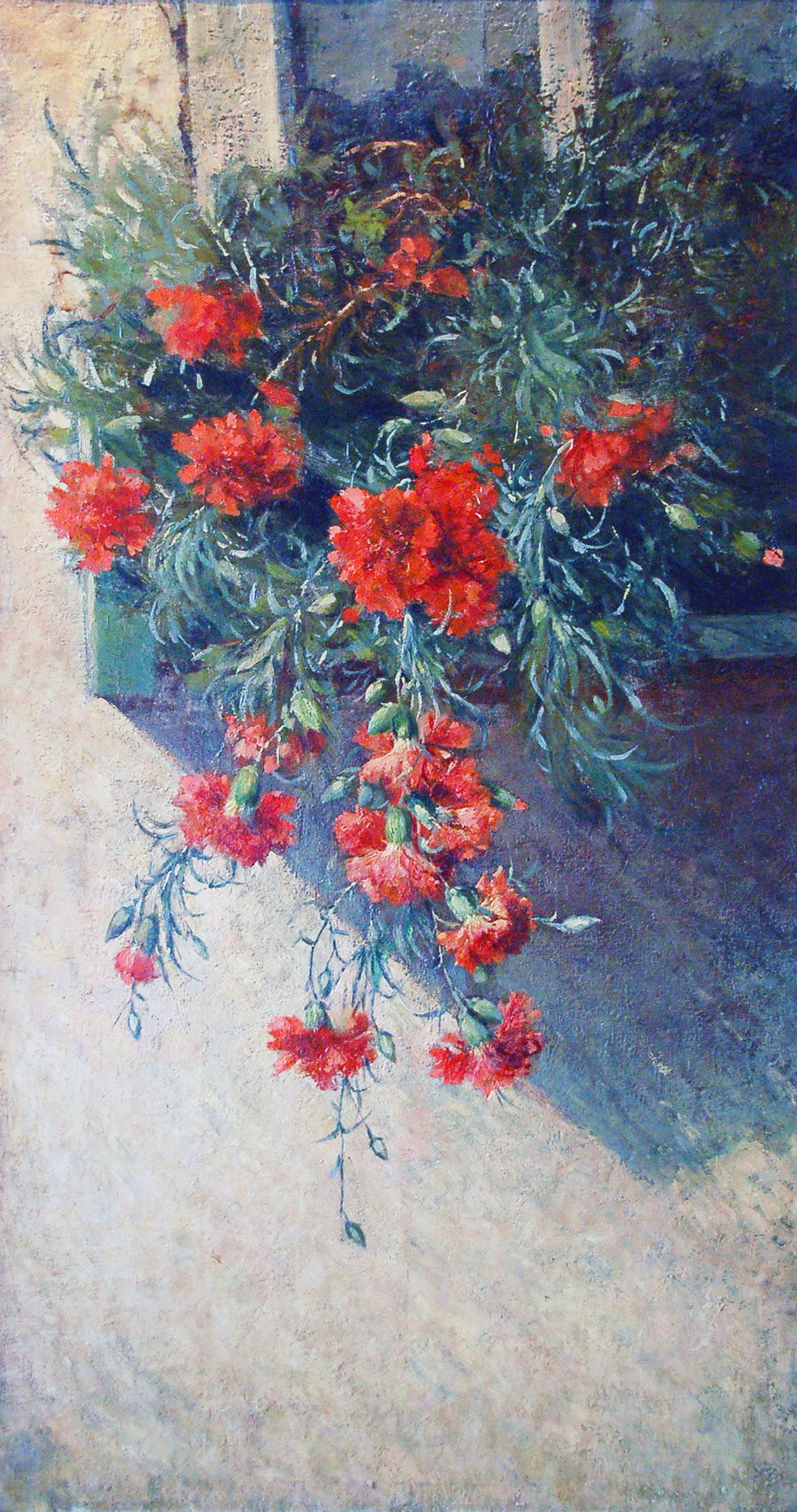 Balcony with carnations