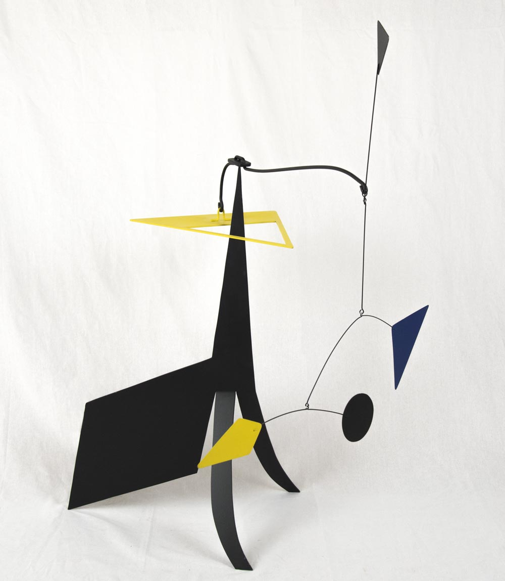 Standing mobile in yellow and black